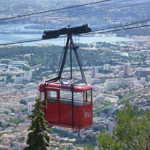 Toulon cable car view