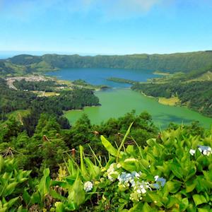 View over Sete Cidades São Miguel Azores