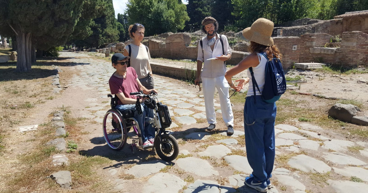 Wheelchair accessible ancient Ostia Hero