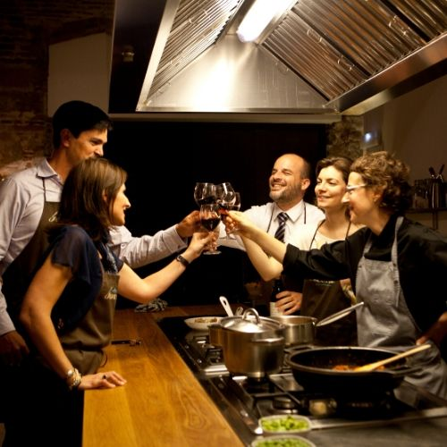 accessible cooking class -wine