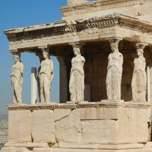 acropolis athens statues