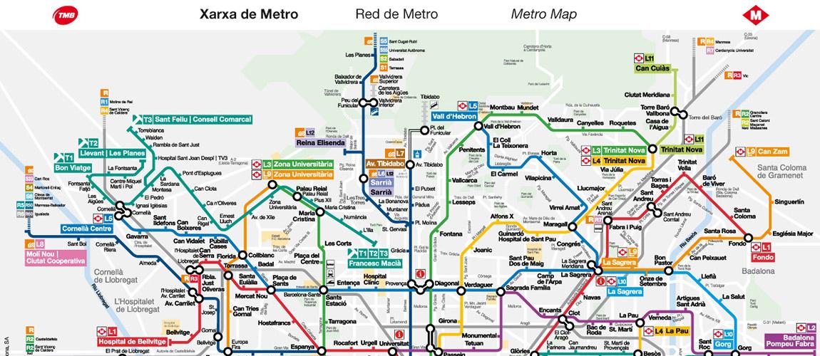 Barcelona Metro Map TMB