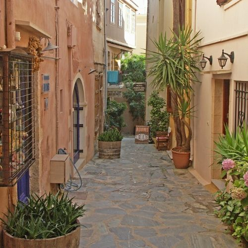chania and monastery - alley