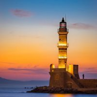 chania and monastery - lighthouse