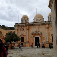 chania and monastery - monastery