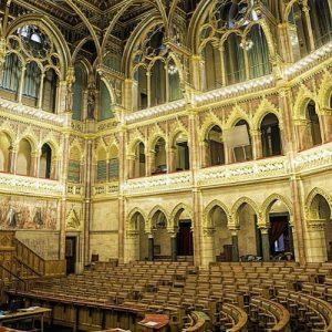 parliament budapest inside