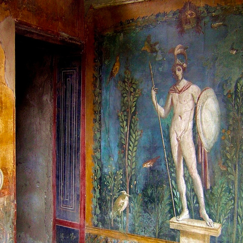 preserved mural pompeii