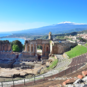 taormina view from the roman theater